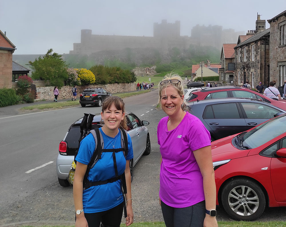 Haley Rhodes and Kate Waite walked 100km for the Trust
